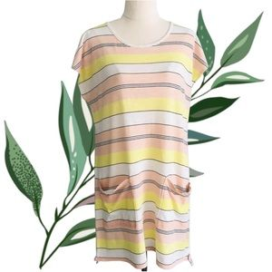 COUNTRY ROAD Short Cotton T-Shirt Dress w/Pockets